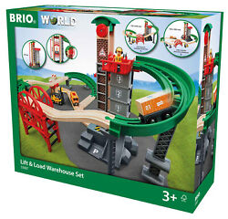 33887 Brio Train Lift And Load Warehouse Railway Set Wooden Toy Childrens Age 3+