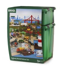 33766 Brio Railway World Deluxe Set Classic Wooden Train Set With Lights And Sound