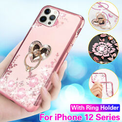 For iPhone 12 Pro Max 12 Mini Girls Women Bling Diamond w Ring Case Stand Cover $6.48