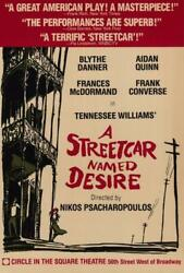 A Streetcar Named Desire Broadway Movie Poster 27 X 40 Blythe Danner A