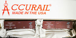 Accurail Ho 1232 Chicago And North Western 2 Pack 36' Double Sheath Wood Boxcar