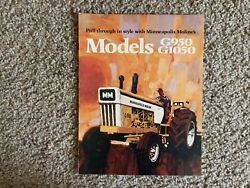 Minneapolis-moline Models G950 And G1050 Tractors 8 Pages 1972 Sales Brochure