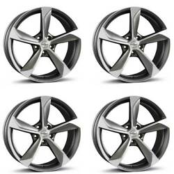 4 Borbet Wheels S 9.0x20 Et40 5x108 Grappm For Land Rover Discovery Freelander E