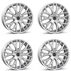4 Borbet Wheels Dy 8.5x19 Et38 5x120 Sil For Opel Insignia