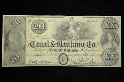 1838 20 The New Orleans Canal And Banking Co. Signed Au Otx275