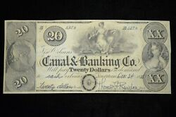 1838 20 The New Orleans Canal And Banking Co. Signed Au Otx276