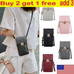 Women Cell Phone Purse Bag Shoulder Strap Touch Screen Cross Body Pouch Wallets $8.19