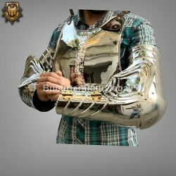 20 Gauge Stainless Steel Mirror Finish Medieval Knight Cuirass With Arm Guard