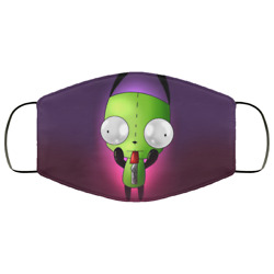 Gir Invader Zim Face Mask Funny Christmas Face Mask Washable Reusable 3d