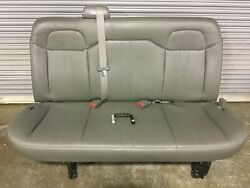2010 Chevy Express Extended Van Oem Passenger 3rd Third Row Bench Seat W/ Pins