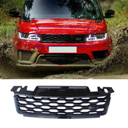 For Range Rover Sport 2018-19 Glossy Black Front Center Mesh Grille Grill Cover