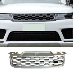 For Range Rover Sport 2018-2019 Silver Abs Front Center Mesh Grille Grill Cover