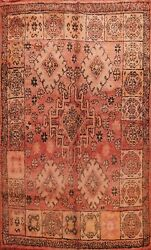 Antique Vegetable Dye Handmade Authentic Moroccan Berber Oriental Area Rug 7and039x9and039