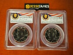 2014 P D Kennedy Half Dollar Pcgs Sp69 /69 50th Anniversary Unc Set Chicago Ana