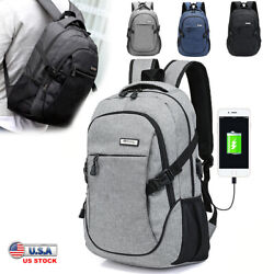 Men USB Charger Backpack Anti theft Rucksack Laptop Notebook Bag Travel School $20.70