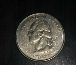 1999 Connecticut State Quarter With Extremely Rare Mint Error On The Obverse