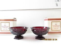 Set Of 2 Avon Cape Cod Candy Dishes Mint In Box