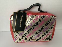 NEW Juicy Couture Hanging Cosmetic Bag Black Interior Multiple Compartments $20.00