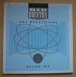 BIG COUNTRY ONE GREAT THING 12quot; G FOLD COVER WITH BOOKLET BOSTON MIX SONG OF TH