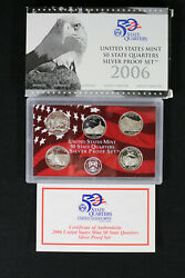 2006 Us Mint 50 State Quarters Silver Proof Set, Complete With Box And Coa