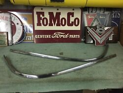 1957 Ford 2 Door Hardtop Front Windshield Lower Stainless Trim 3 Piece Set