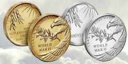 End Of World War Ii Ww2 75th Anniversary Gold And Silver Medals