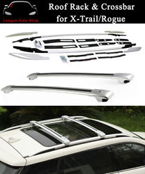 Roof Rack Rail Luggage Carrier Fits For Nissan X-trail Rogue 2014-2021 Crossbar