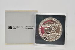 1985 Canadian Moose .500 Silver National Parks Commemorative Proof Coin Dollar