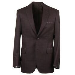 Brioni Modern-fit 'brunico' Layered Check Wool And Silk Sport Coat 38r Nwt