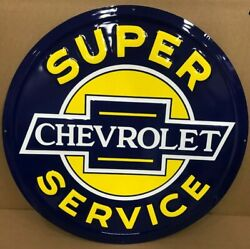 24 Embossed Metal Chevrolet Super Service Signs / Chevy Ss Signs / Chevrolet