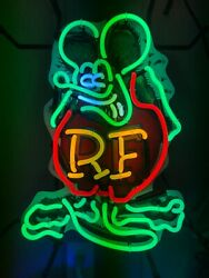 Rat Fink Neon Sign - Approximately 50 W X 23 H X 66 D Cm New Gas And Oil