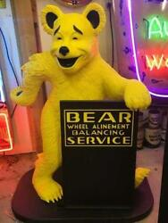52 Bear Alignment Advertising Bear Statue W/ Sign Gas And Oil Freight Shipping