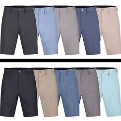 Mens Hybrid Quick Dry Board Shorts Swim Trunks Flat Front Solid Chino Short