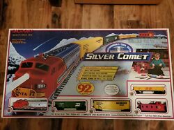 Bachmann Train Set Rarevintage Silver Comet New In Box Complete Set Of 92