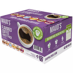 Maudand039s Gourmet 100 Arabica Flavored Coffee Variety Pack 72 Ct. Free-shipping