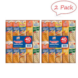Lance Sandwich Crackers Variety Pack 1.41 Oz. 40 Ct. 2 Pack Free-shipping