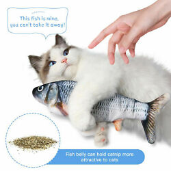 Cat Interactive Toys Flippity Fish Toy Electric Realistic Flopping Fish amp; Catnip