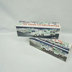 Hess Trucks Toy Truck And Airplane 2002 / 2006 Toy Truck And Helicopter
