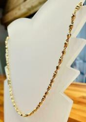 18k Yellow Gold Necklace - Italian Exclusive Item Length 19.7 Inches 11.10 Grams