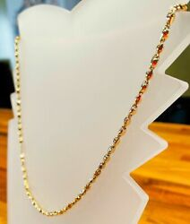 18k Yellow Gold Necklace - Italian Exclusive Item Length 19.7 Inches 9.50 Grams