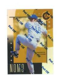 1998 Pinnacle Certified Mirror Gold 38 Hideo Nomo Bankruptcy Test Issue Rookie