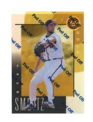 1998 Pinnacle Certified Mirror Gold 97 John Smoltz Bankruptcy Test Issue Rookie