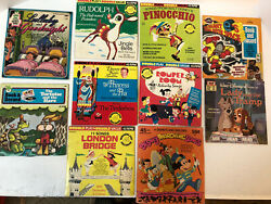Lot Of 8 45 Rpm Records Double Play Disney Rudolph Jingle Bells See Desc