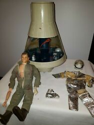Vtg 1966 Gi Joe Space Capsule And Astronaut By Hasbro 16 Scale Broken And Well Used