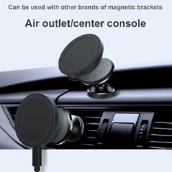 Car Magnetic Wireless Charger With Tpye-c Integrated Cable For Iphone12promax