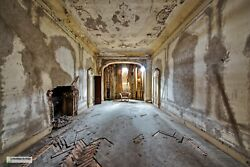 Photo Antique Armchair Places Abandoned Italy Poster Urbex