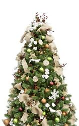 6ft Artificial Christmas Tree With 135 Pcs Ornaments And Led String Lights