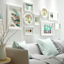 9pcs Wall Photo Frames Picture Hanging Living Dining Room Modern Home Decoration