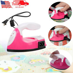Mini Electric Iron for Patch Spell Bean DIY Craft Portable Travel Clothes Sewing