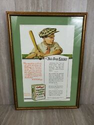 Vintage Kellogg's Toasted Corn Flakes Cereal Store Ad 1919 Delineator Magazine